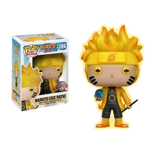 Funko POP! Naruto Shippuden - Naruto (Six Path) (GITD) Vinyl Figure #186 Special Edition Exclusive [READ DESCRIPTION]