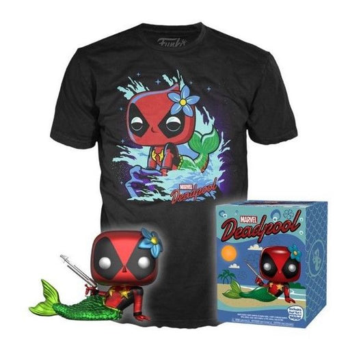 Funko POP! and Tee: Marvel - Deadpool Mermaid Collectors Box Target Exclusive