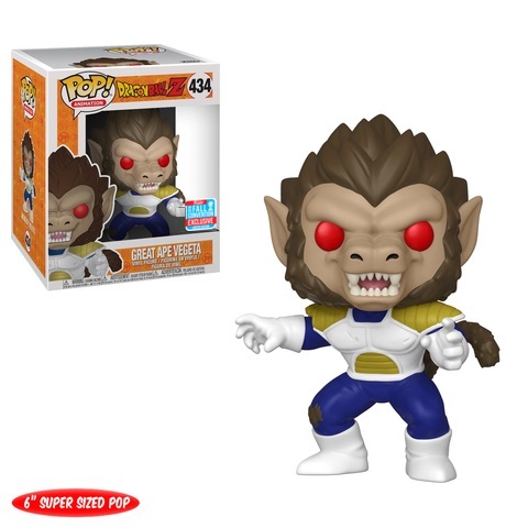 Funko POP! Dragon Ball Z - Great Ape Vegeta 6-Inch Vinyl Figure #434 2018 Fall Convention Exclusive (NOT 100% MINT)