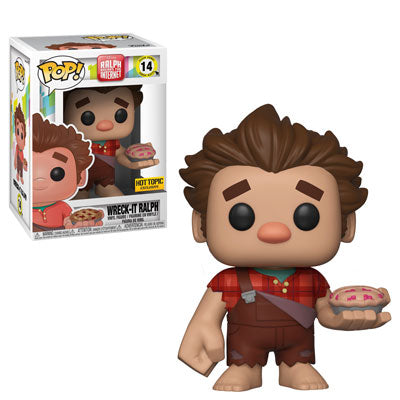 Funko POP! Ralph Breaks the Internet - Wreck-It Ralph with Pie Vinyl Figure #14 Hot Topic Exclusive (NOT 100% MINT)