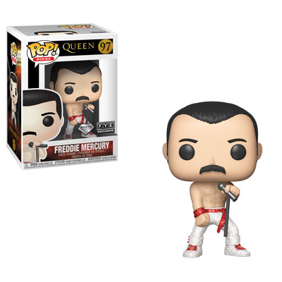 Funko POP! Rocks: Queen - Freddie Mercury (Diamond Collection) Vinyl Figure #97 FYE Exclusive (NOT 100% MINT)