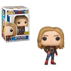 Funko POP! Captain Marvel - Captain Marvel (Jacket) Vinyl Figure #435 Hot Topic Exclusive [READ DESCRIPTION]