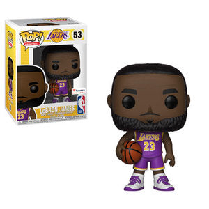 Funko POP! NBA: LA Lakers - Lebron James Vinyl Figure #53 Fanatic Exclusive [NO STICKER] [READ DESCRIPTION]