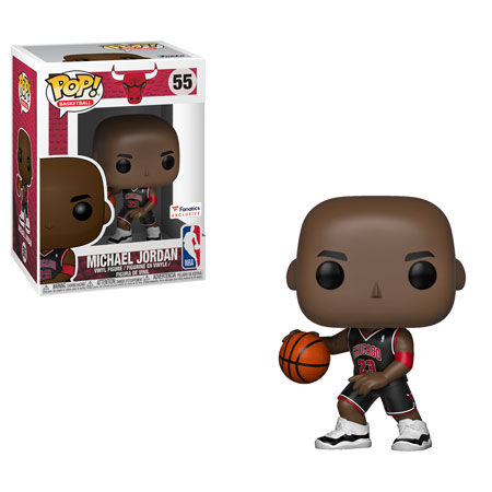 Funko POP! NBA: Bulls - Michael Jordan (Black Alternate Jersey) Vinyl Figure #55 Fanatics Exclusive (NOT 100% MINT)