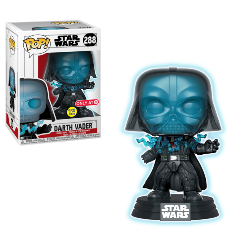 Funko POP! Star Wars - Darth Vader (Electrocuted) (Glow In The Dark) Vinyl Figure #288 Target Exclusive (NOT 100% MINT)