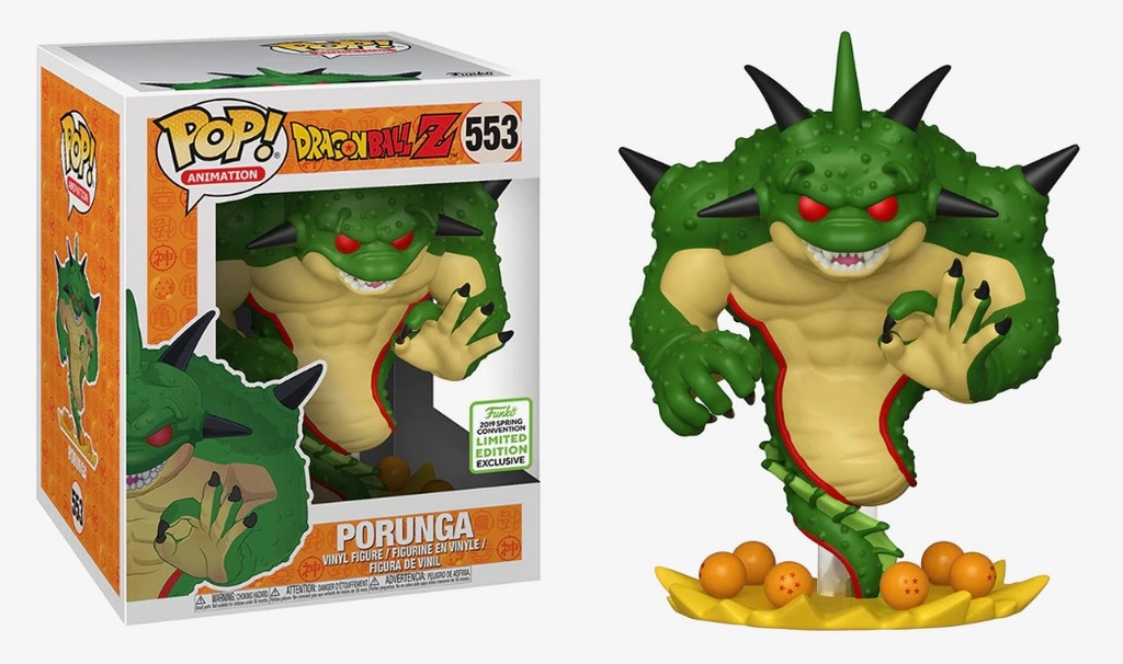 Funko POP! Dragon Ball Z - Porunga 6-Inch Vinyl Figure #553 Spring Convention Exclusive (NOT 100% MINT)