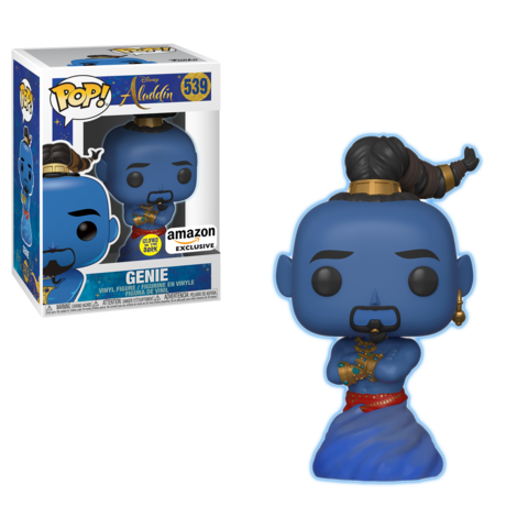 Funko POP! Disney: Aladdin - Genie (Glows in the Dark) Vinyl Figure #539 Amazon Exclusive (NOT 100% MINT)