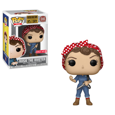 Funko POP! American History - Rosie the Riveter Vinyl Figure #08 Target Exclusive (NOT 100% MINT)