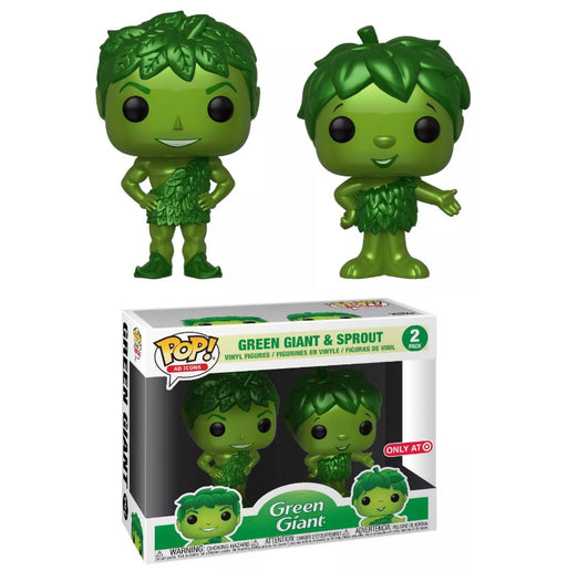 Funko POP! Ad Icons: Metallic Green Giant and Sprout Two Pack Vinyl Figure (Target Exclusive)