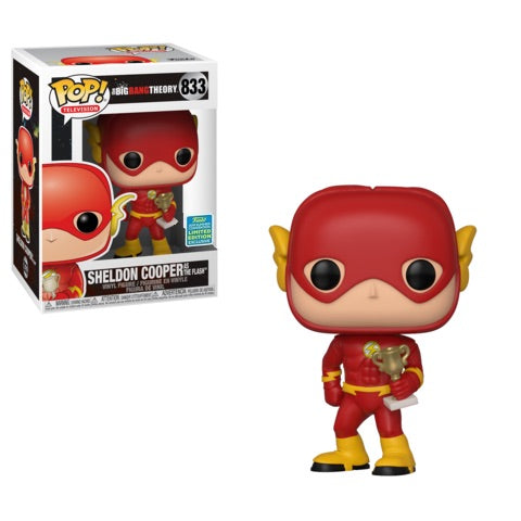 Funko POP! The Big Bang Theory - Sheldon as The Flash Vinyl Figure #833 2019 Summer Convention Exclusive (READ DESCRIPTION)