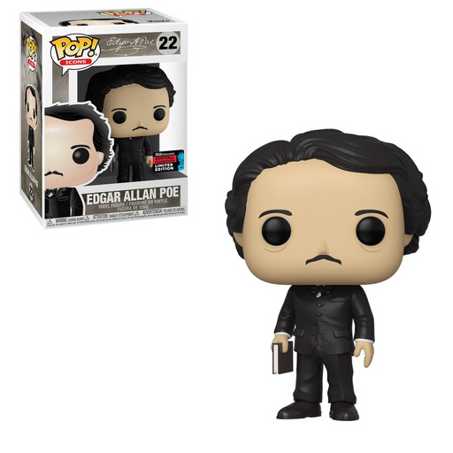 Funko POP! Icons - Edgar Allan Poe with Book Vinyl Figure #22 Fall Convention Exclusive [READ DESCRIPTION]