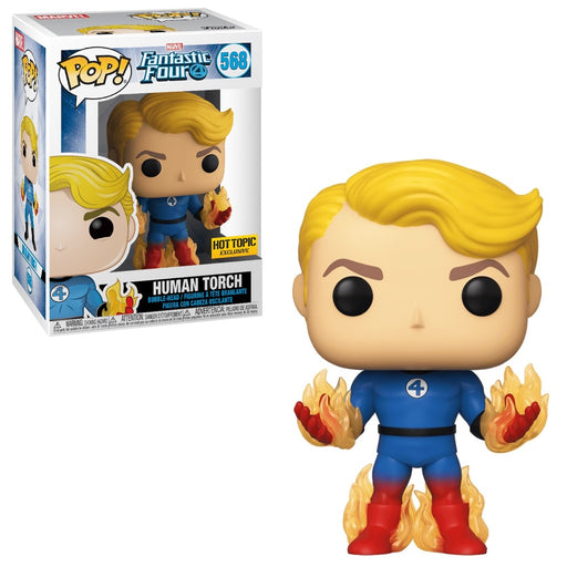 Funko POP! Fantastic Four - Human Torch Vinyl Figure #569 Hot Topic Exclusive [READ DESCRIPTION]