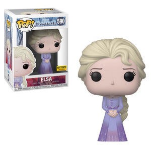 Funko POP! Frozen 2 - Elsa (Purple Dress) Vinyl Figure #590 Hot Topic Exclusive [READ DESCRIPTION]