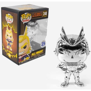 [Consignment] Funko POP! My Hero Academia - All Might (Chrome) Vinyl Figure #248 Funimation Exclusive