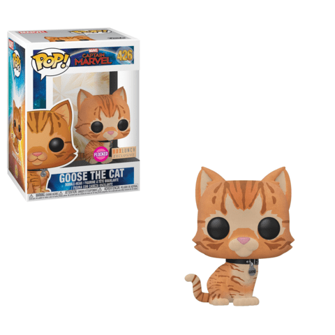Funko POP! Captain Marvel - Goose the Cat (Flocked) Vinyl Figure #426 Box Lunch Exclusive [READ DESCRIPTION]