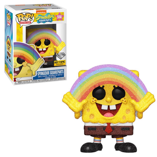 Funko POP! Spongebob Squarepants (Diamond Collection) Vinyl Figure #558 Hot Topic Exclusive [READ DESCRIPTION]
