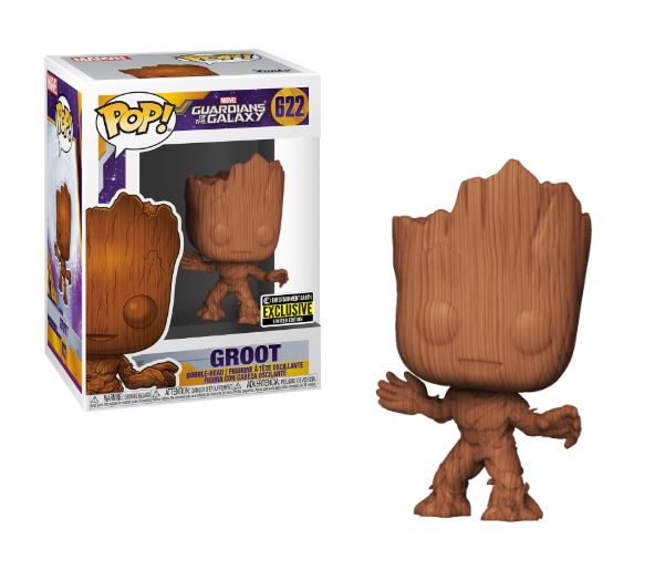 Funko POP! Guardians of the Galaxy - Groot Wood Deco Vinyl Figure Entertainment Earth Exclusive [READ DESCRIPTION]