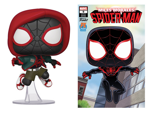 Funko POP! Spider-Man: Into The Spider-Verse - Casual Miles Morales Vinyl Figure #529 with Comic Preview Exclusives (PX) [READ DESCRIPTION]