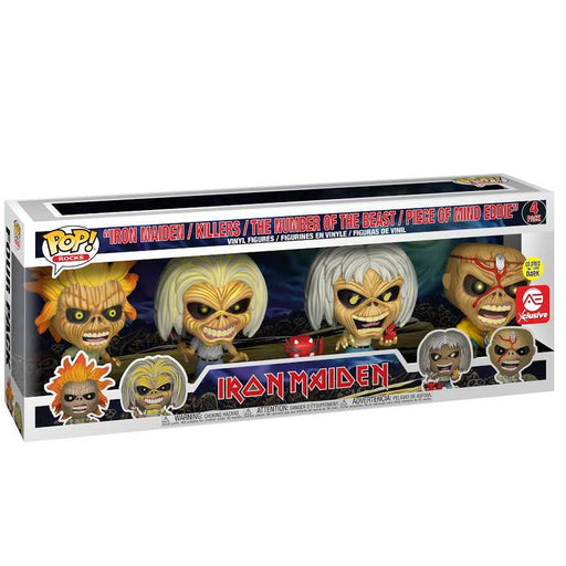 Funko POP! Rocks - Iron Maiden (Glow in the Dark) 4-Pack Alliance Entertainment Exclusive [READ DESCRIPTION]