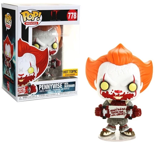 Funko POP! IT Chapter 2 - Pennywise with Skateboard #778 Hot Topic Exclusive (NOT 100% MINT)