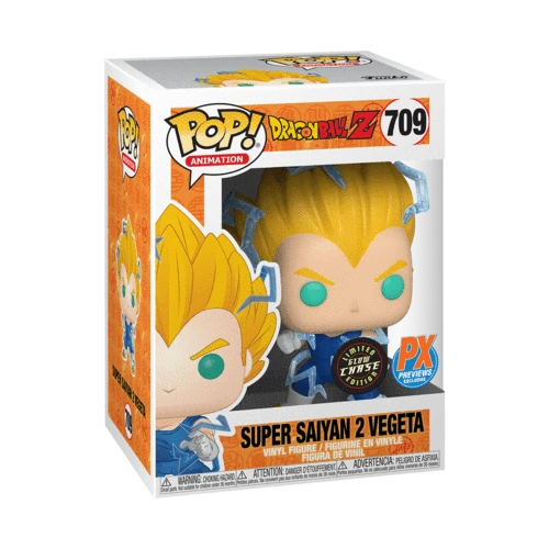 Funko POP! Dragon Ball Z - Super Saiyan 2 Vegeta Chase Vinyl Figure Preview Exclusives (PX)