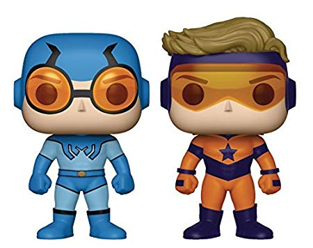 Funko POP! DC Super Heroes - Blue Beetle and Booster Gold 2-Pack Preview Exclusives (PX) (NOT 100% MINT)