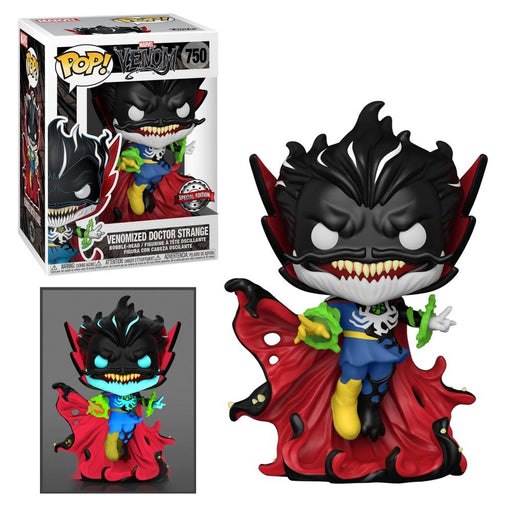 Funko POP! Venom - Venomized Doctor Strange with Energy (Glow In The Dark) Vinyl Figure #750 Special Edition Exclusive [READ DESCRIPTION]