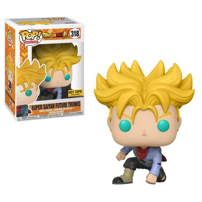 Funko POP! Dragon Ball Super - Super Saiyan Future Trunks Vinyl Figure #318 Hot Topic Exclusive (NOT 100% MINT)