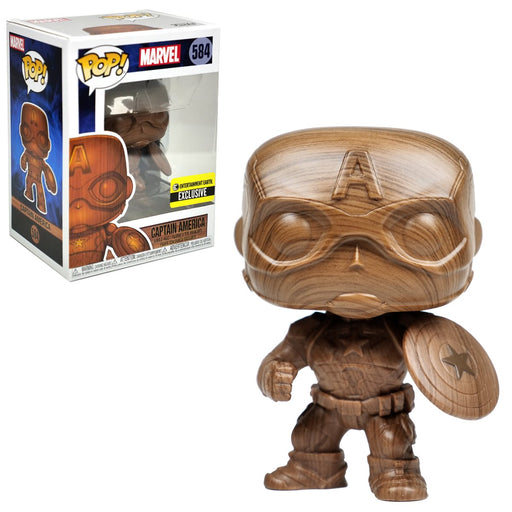 Funko POP! Marvel - Captain America Wood Deco Vinyl Figure Entertainment Earth Exclusive [READ DESCRIPTION]