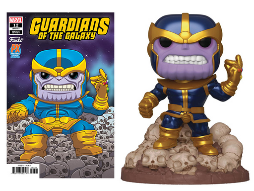 Funko POP! Guardians of the Galaxy - 6-Inch Thanos Snap Vinyl Figure Preview Exclusives (PX) with Comic (READ DESCRIPTION)