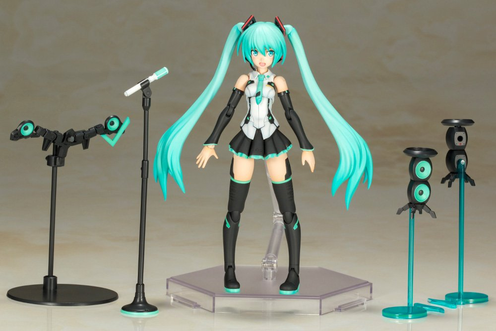KOTOBUKIYA Plastic Model Kits:  Frame Music Girl - Hastune Miku