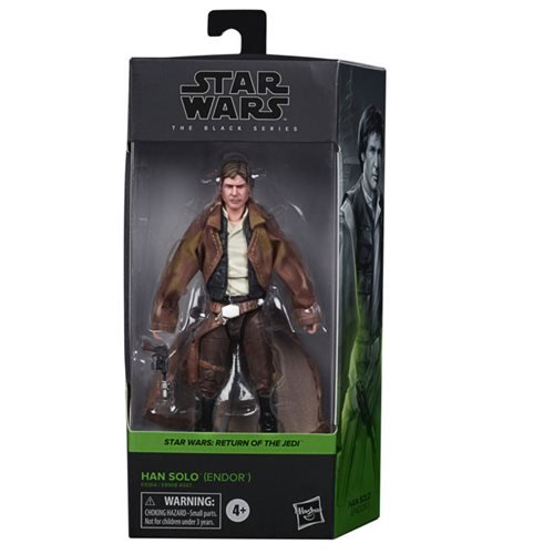 Star Wars: The Black Series - Han Solo (Endor Trenchcoat) (Return of the Jedi) 6-Inch Action Figure