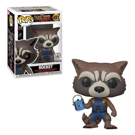 Funko POP! Guardians of the Galaxy - Rocket Vinyl Figure #491 Disney Parks Exclusive (NOT 100% MINT)