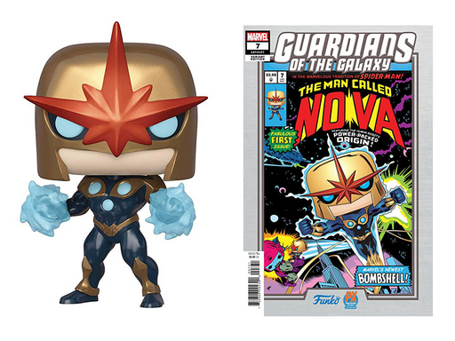 Funko POP! Marvel - Nova Vinyl Figure Previews Exclusive (PX) #494 with Comic [READ DESCRIPTION]