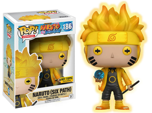 Funko POP! Naruto Shippuden - Naruto (Six Path) Vinyl Figure #186 Hot Topic Exclusive (NOT 100% MINT)
