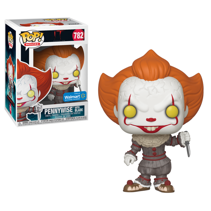Funko POP! IT Chapter 2 - Pennywise with Blade Vinyl Figure #782 Walmart Exclusive (NOT 100% MINT)