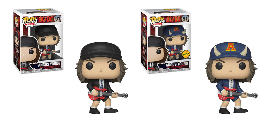 Funko POP! Rocks: AC/DC - Angus Young Common and Chase Bundle #91