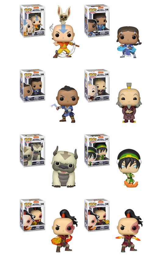 Funko POP! Avatar: The Last Airbender - Complete Set of 8 Chase Included