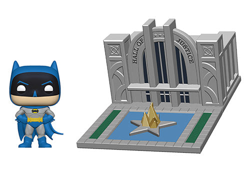 Funko POP! Town: Batman 80th - Hall of Justice with Batman Vinyl