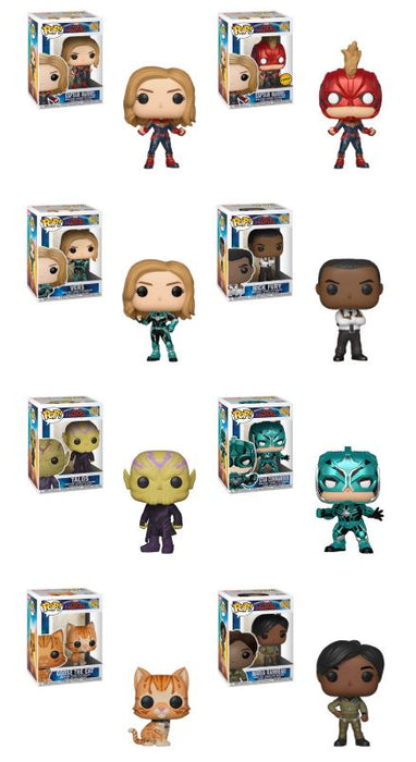Funko POP! Captain Marvel - Complete Set of 8 Chase Included