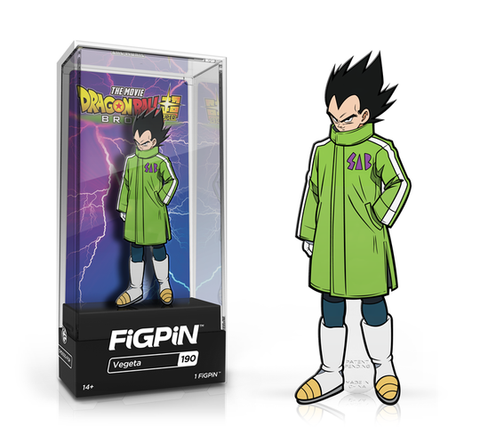 [PRE-ORDER ETA JUNE] FiGPiN: Dragon Ball Super: Broly The Movie - Vegeta #190