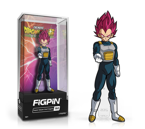 [PRE-ORDER ETA JUNE] FiGPiN: Dragon Ball Super: Broly The Movie - Super Saiyan God Vegeta #192