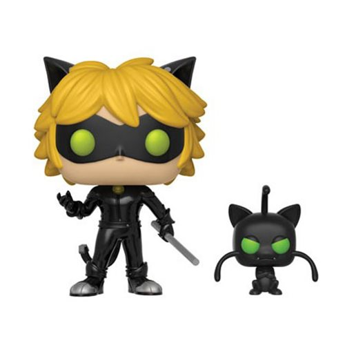 Funko POP! Miraculous Tales of Ladybug - Cat Noir with Plagg Buddy Vinyl Figure