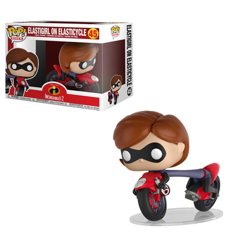 Funko POP! Rides: Incredibles 2 - Elastigirl on Elasticycle Vinyl Figure #45