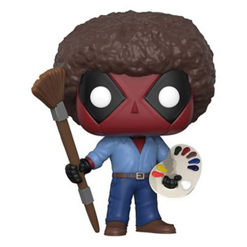 Funko POP! Deadpool - Playtime Deadpool Bob Ross Vinyl Figure
