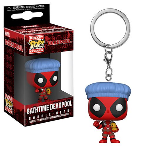 Funko POP! Keychain: Deadpool - Bathtime Deadpool Pocket Keychain