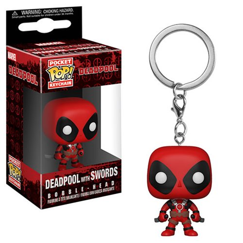 Funko POP! Keychain: Deadpool - Deadpool with Swords Pocket Keychain