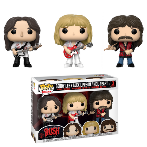 [PRE-ORDER] Funko POP! Rocks: Rush - Greddy, Alex, Neil 3-Pack Vinyl Figures