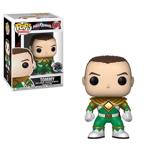 Funko POP! Power Rangers - Green Ranger No Helmet Vinyl Figure #669