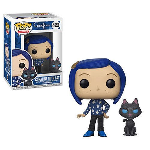 Funko POP! Coraline - Coraline with Cat Buddy Vinyl Figure #422